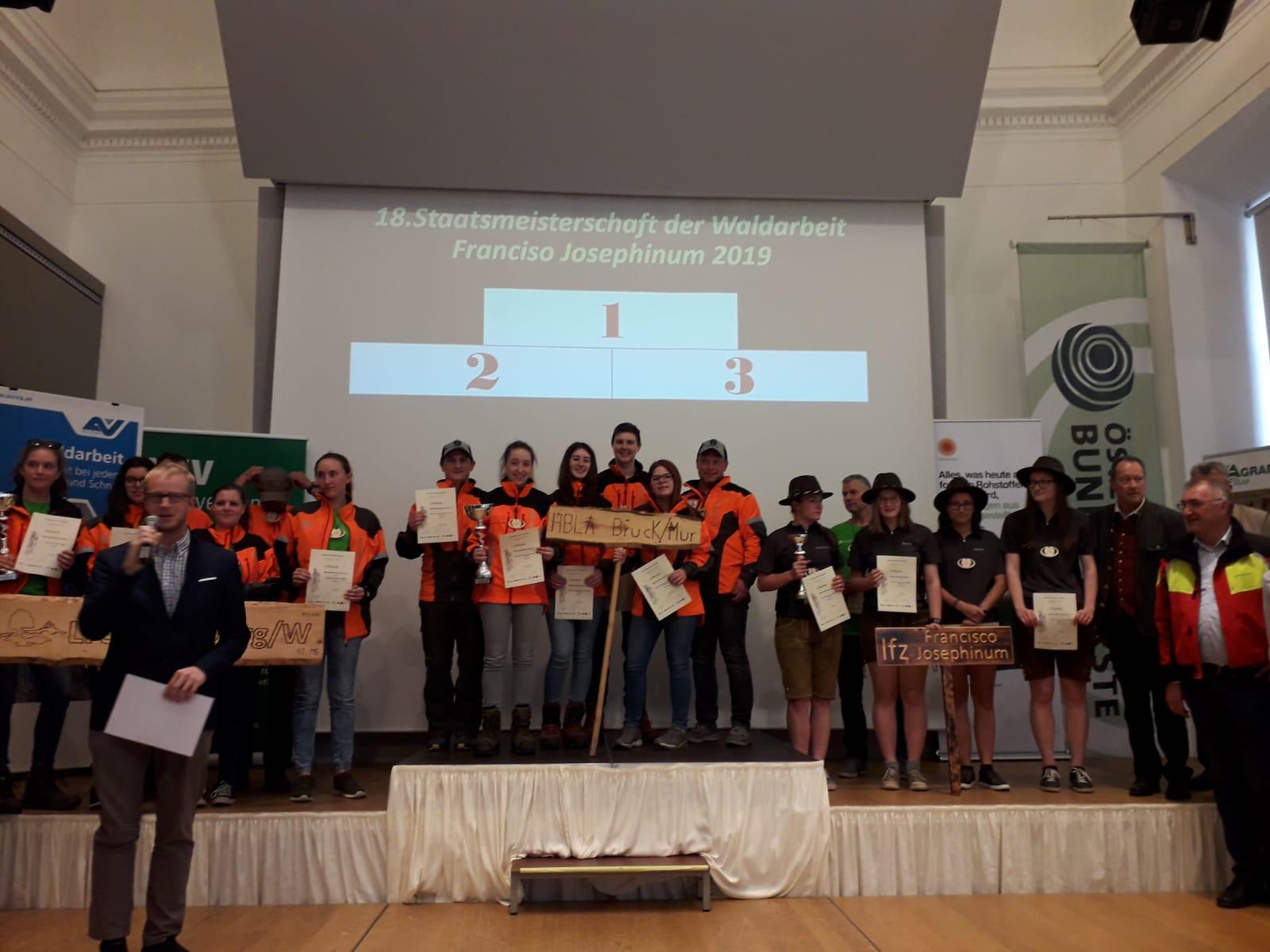 18. Schülerstaatsmeisterschaft der Waldarbeit 2019 (2002 von EUROPEA Austria initiiert)