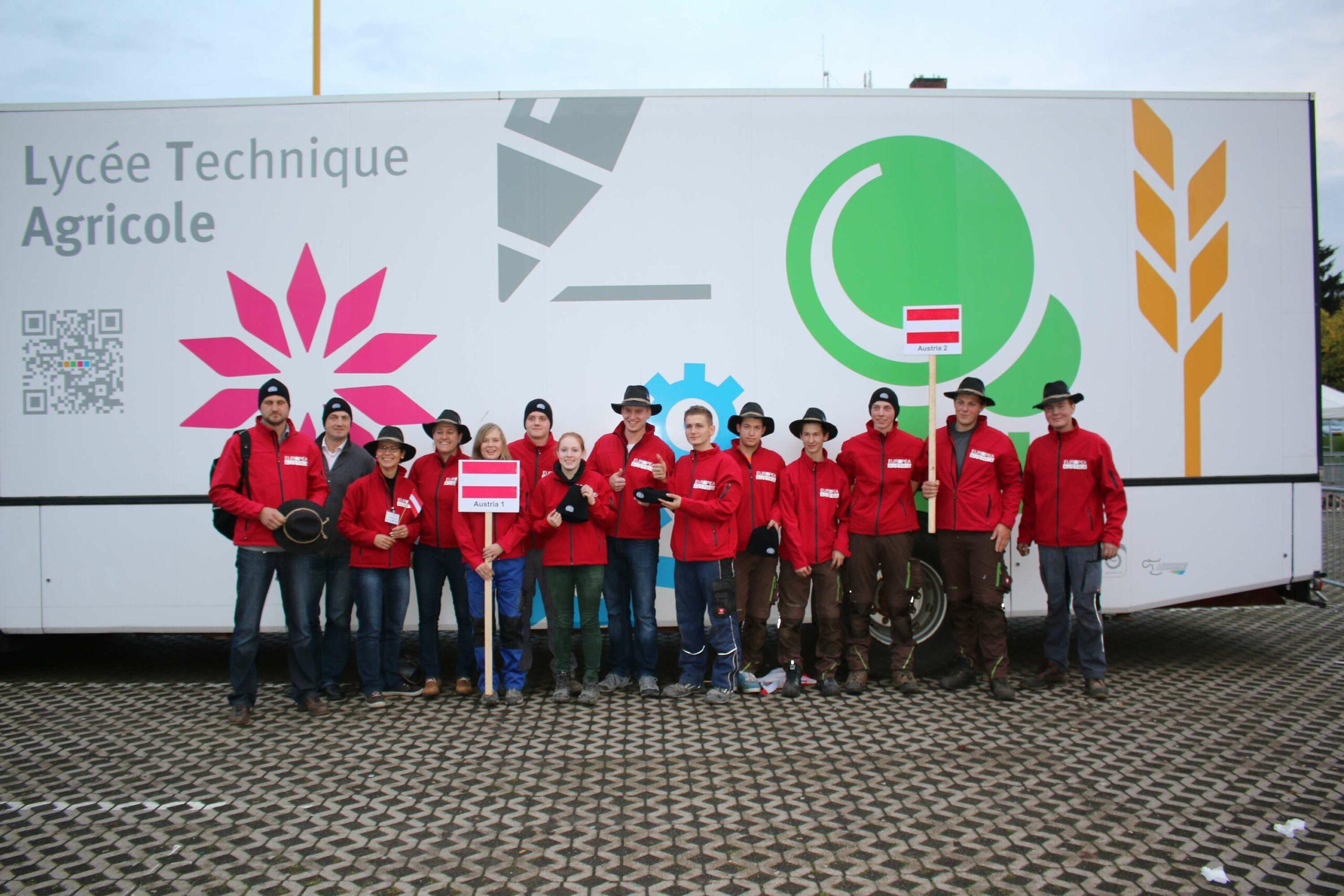 Das österreichische Team bei der 1. EUROPEA Agrolympics in Luxembourg 2015