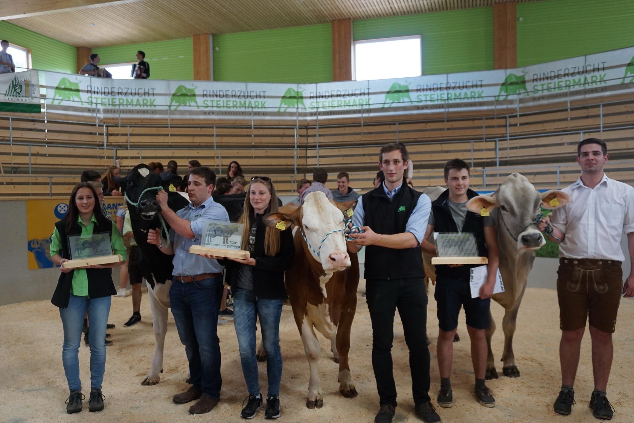 Siegerehrung beim EUROPEA Tierbeurteilungswettbewerb