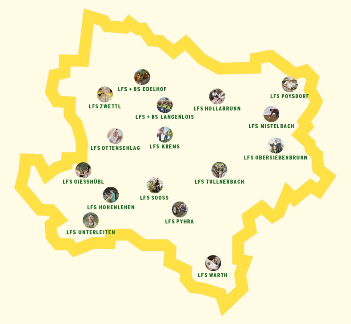 Landkarte der Schulstandorte